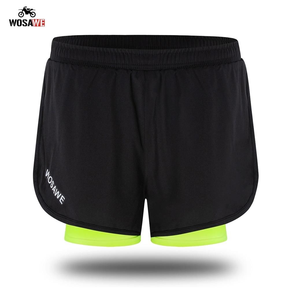 WOSAWE мотоциклетные шорты 2 в 1 мужские s шорты Pantalon для мотокросса мужские горные внедорожные велосипедные шорты с дышащей длинной подкладкой-in Шорты from Автомобили и мотоциклы