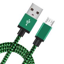 مايكرو USB كابل شحن سريع مضفر بيانات الحبل لسامسونج S7 S6 هواوي شاومي Redmi نوت 5 برو 4 أندرويد ميكروشب كابلات الهاتف