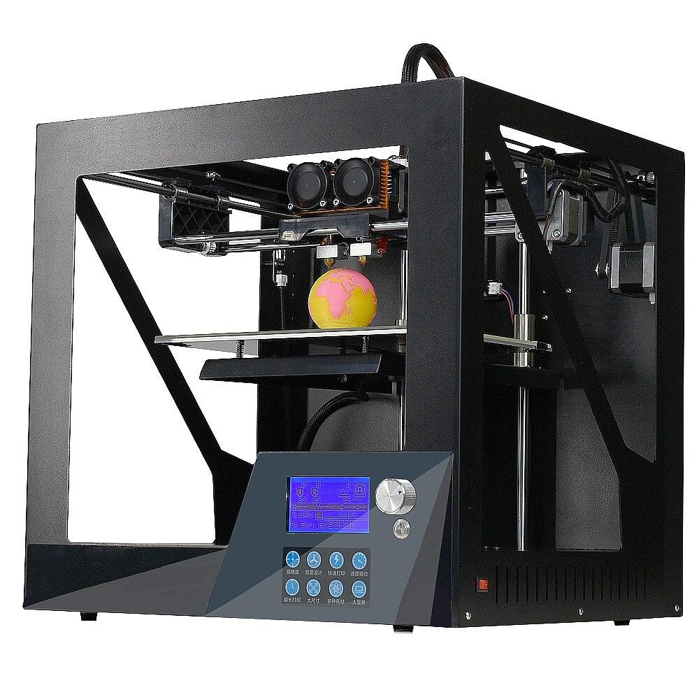 2018 NEW 3D printer prusa i3 3d printer ship from RU MOSCOW TWO COLOR PRINTER printer size:180*195*195mm printer youtube