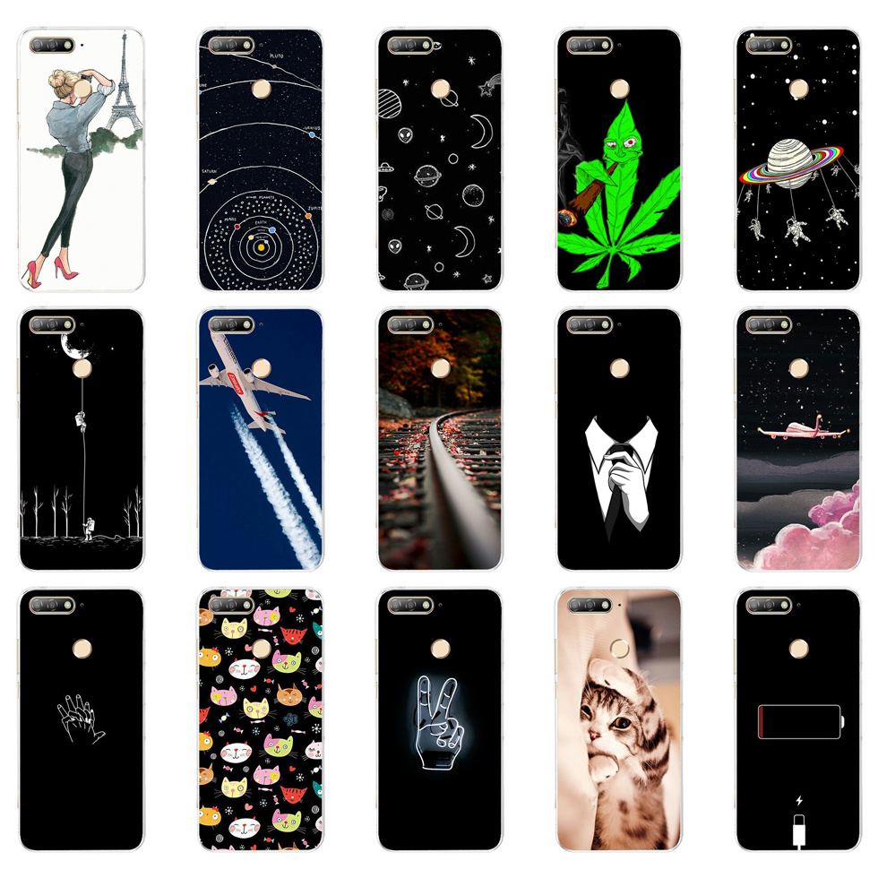 H Silicon <font><b>case</b></font> <font><b>for</b></font> <font><b>huawei</b></font> <font><b>Y6</b></font> <font><b>Prime</b></font> <font><b>2018</b></font> <font><b>case</b></font> Super cat Painting Soft TPU Back <font><b>Cover</b></font> <font><b>for</b></font> <font><b>huawei</b></font> <font><b>Y6</b></font> <font><b>Prime</b></font> <font><b>2018</b></font> full 360 shockproof image
