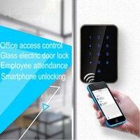 Длинные Диапазон дистанционного электронного небольшой замок Wi Fi Управление Цифровой Bluetooth Smart Access Управление Стекло безопасный замок на д