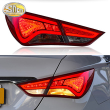 цена на Car LED Tail Light Taillight For Hyundai Sonata YF 2011 - 2014 Rear Fog Lamp + Brake Light + Reverse Light + Turn Signal Light