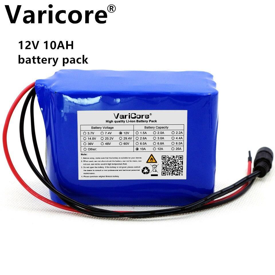 12 v 10AH 18650 Li-ion batterie protection plaque 12A 10000 mah Chasse xénon lampe de pêche lampe utiliser + 12 v 3A chargeur