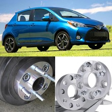 4pcs 4X100 54.1CB 25mm Thick Hubcenteric Wheel Spacer Adapters For Toyota Yaris/Corolla EX /Vios