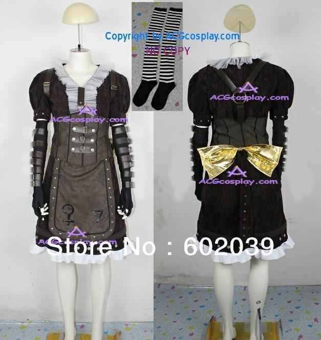 ②Alice Madness Returns Алиса пара платье Косплэй костюм ...