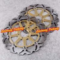 Motorcycle Front Brake Disc Rotors Replacements For Ducati Laverda Moto Guzzi Yamaha Aprila BMW KTM Pair