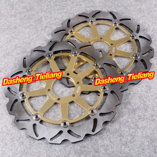 Motorcycle Front Brake Disc Rotors Replacements For Ducati / Laverda / Moto Guzzi /Yamaha /Aprila /BMW /KTM Pair keoghs motorcycle brake disc brake rotor floating 260mm 82mm diameter cnc for yamaha scooter bws cygnus front disc replace
