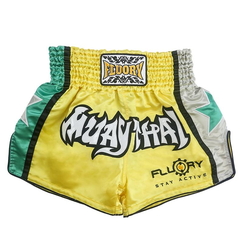 FLUORY Muay Thai Fight Shorts,MMA Shorts Clothing Training Cage ...