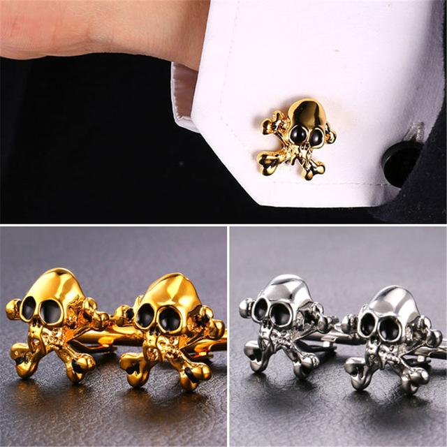 Skull Cufflinks (2 colors)