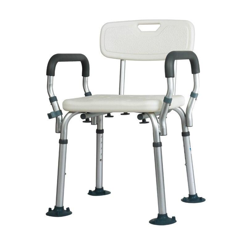 Elderly Bath Shower Seat with Armrests Backrest Toilet Chairs Shower Chair Pregnant Women Spa Bench Convenient Bathroom Chair