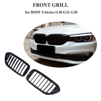 Glossy Black ABS Kidney Grille Grill for BMW 5 Series G30 G31 G38 2017 2018 Replacement Style