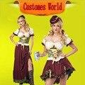 Barato MOONIGHT Sexy Para Mujer de la Muchacha de La Cerveza Alemana Oktoberfest, fräulein Dirndl cerveza Carnaval Del Vestido de Lujo Traje Envío Gratis