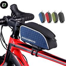 ROCKBROS Breathable Road Bicycle Saddle Bags Rainproof Bike Riding Bag 4 Colors Reflective Outdoor Cycling