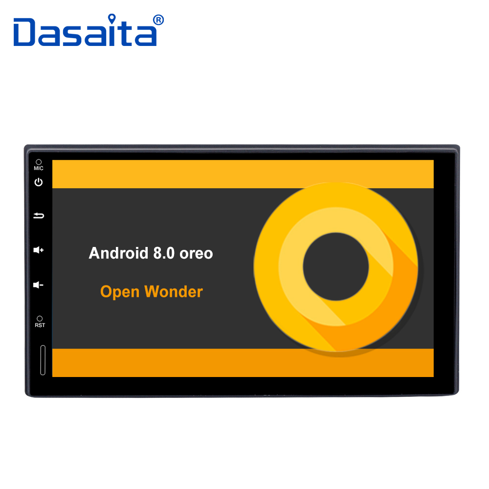 7 HD цифровой Сенсорный экран 2 din Android 8,0 автомагнитолы с Octa Core 4 ГБ Оперативная память 32 ГБ Встроенная память 1080 P видео для Nissan Универсальный