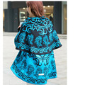 Big brand new lady national wind shawl cape Round shape thick cashmere shawl scarf ladies spring and autumn winter gift A201