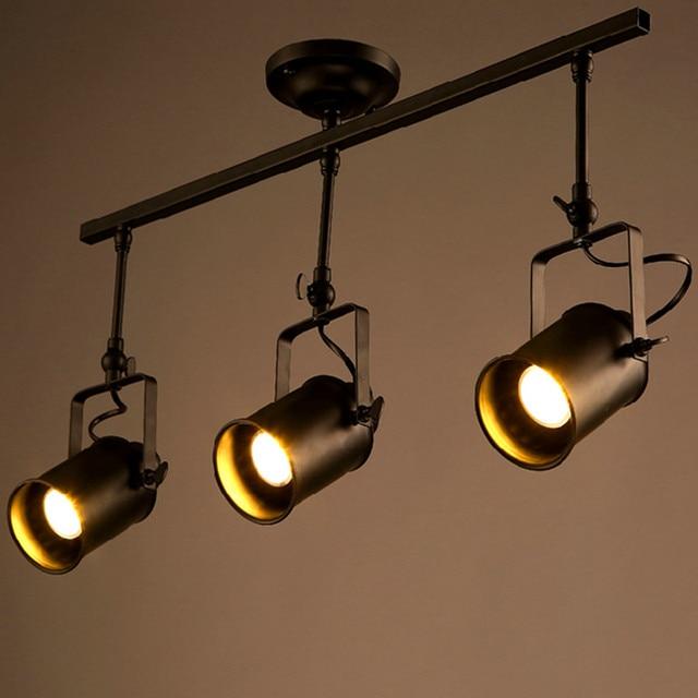 Retro Loft Vintage LED Track Light Industrial Ceiling Lamp Bar ...