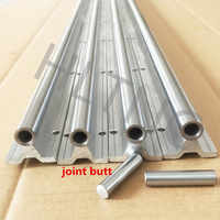abutting joint 2 Set SBR20-3600mm 20 MM FULLY SUPPORTED LINEAR RAIL SHAFT ROD with 10 SBR20UU