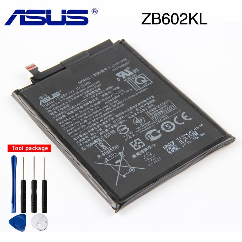 Original ASUS High Capacity C11P1706 Phone Battery For Asus ZB602KL 4850mAh