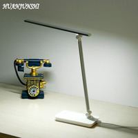 HUANJUNSHI LED USB Charging Folding Desk Lamp Eye Friendly Dimmable Book Light For Students Reading And