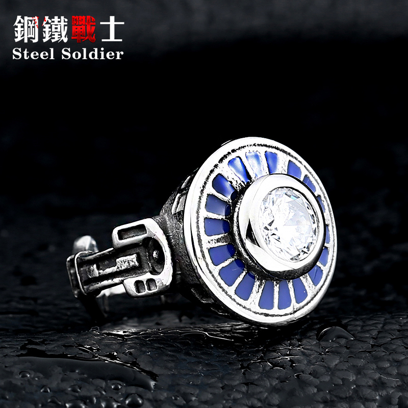 Steel soldier hot sale movie style star wars Millennium Falcon ring men fashion stainless steel jewelry