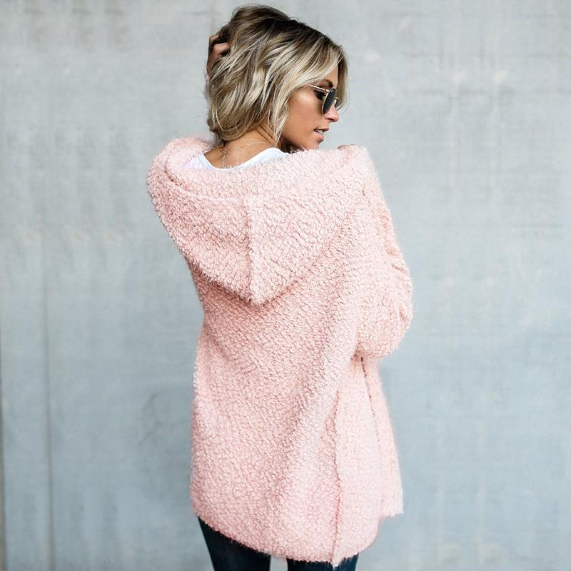 Fuzzy Hooded Warm Winter Cardigan Sweater Jacket – Ventcri ef56a49d6