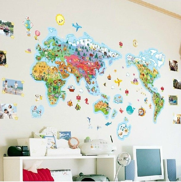 Online shop rice cartoon world map of the world large children rice cartoon world map of the world large gumiabroncs Choice Image