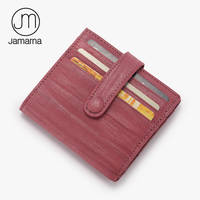 Jamarna JM Genuine Leather Goatskin Women Credit Card ID Holder Mini Hasp Wallet Free Shipping