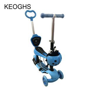 Image 3 - Children baby scooter kids 5in1 PU 3wheels Flashing Swing Car Lifting 2 15 Years Old Stroller Ride Bike Vehicle Outdoor Toys