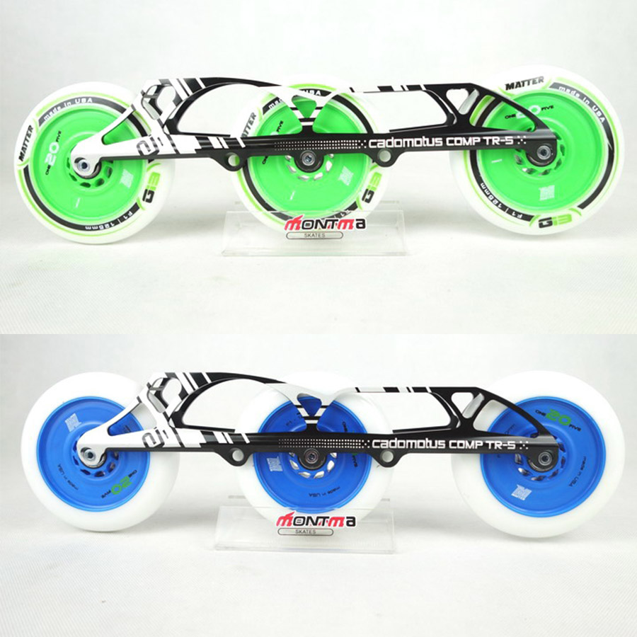 Cadomotus Comp TR-S 3*125mm & 4*110mm Changeable Frames 195mm Distance Matter Speed Inline Skate Wheels Base F1 Hardness 125mm cityrun inline speed skate frame 3 125mm 12 6 aluminum alloy 7075 for 3 wheels speed skating shoes basins free shipping bases