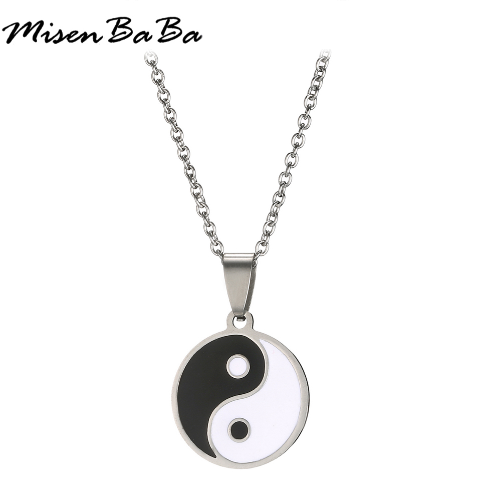 Men's Stainless Steel Necklace Chinese Style Yin Yang Tai Ch…