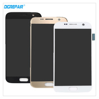 Black Gold White A For Samsung Galaxy S7 G930 LCD Display Digitizer Touch Screen Assembly Replacement