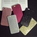 Hot! pó glitter bling case para iphone 7 7 plus 6 6 s mais Brilhante Colorido Rígido PC Tampa Traseira Acessórios Shell Fundas Coque