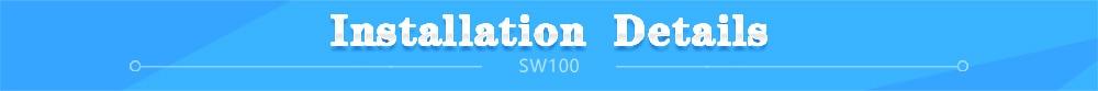 SW100 with hand programmer installation details