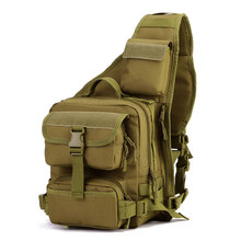 Купить с кэшбэком Man Army Tactical Chest Pack Military Molle Shoulder Bags Single Shoulder Bag Outdoor Sports Motorcycle Ride Bicycle Bag