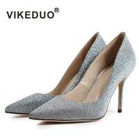 Vikeduo Brand Limited 2018 Fashion Silk Sapato Feminino New Luxury Lady Wedding Shoes High Heels Pointed Toe Shoe Women Pumps