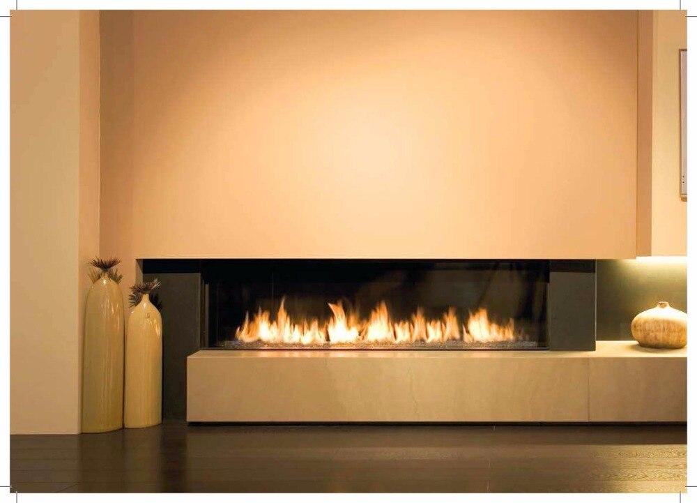 À vendre 1.5 M 60 pouces noir/argent décoration d'intérieur smart control bio éthanol brûleur