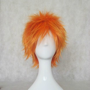 Cosplay Wig - Bleach Cosplay Ichigo Kurosaki Orange Party Wig 35cm Short Hair Free Style Hair For Halloween+free Wig Cap To Be Distributed All Over The World