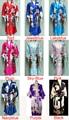 Free Shipping Women's Kimono Robe/Gown Geisha Robe Bathrobe Sleepwear With Belt
