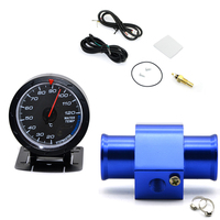 2'' 52MM Car Led Water Temperature Gauge 20 120 Celsius With Water Temp Joint Pipe Sensor Adapter 1/8NPT