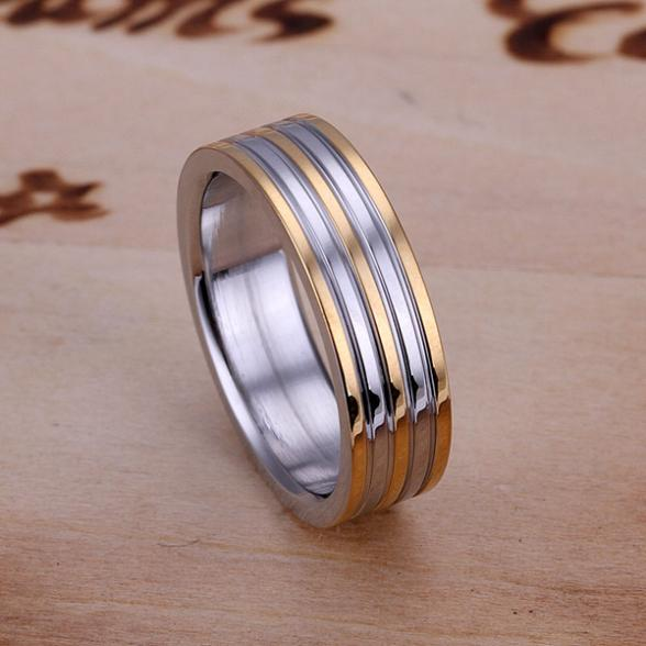 Promotion Hot Sale Fashion High Quality Christmas Gift Silver Jewelry Nickle free Women Men Lovers Steel Ring Ri-R837