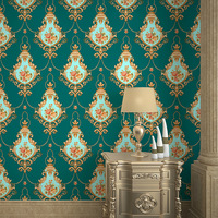 beibehang European pvc wallpaper warm bedroom wedding room living room sofa TV background wall 3D garden flower wallpaper
