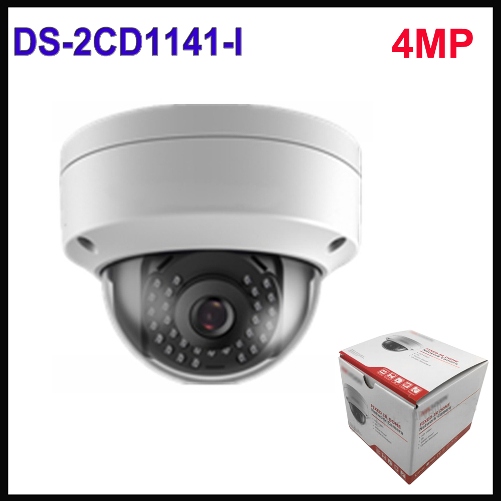 Hikvision 4MP POE IP Camera DS-2CD1141-I replace DS-2CD2145F-IS network dome ip cctv security camera Outdoor h 265 ds 2cd3345 i hikvision ip camera poe 4mp ip cameras outdoor waterproof ip66 security network video surveilance camera cctv
