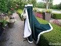 2016 fur bridal cape jacket Irish Hunter Green (Emerald) / White Satin Bridal cape 65-inch with Fur Trim Wedding Cloak Handmade