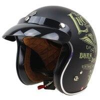 Lucky 13 Retro Motorbike Helmet DOT Approved 3 4 OPEN FACE HELMET TORC T50