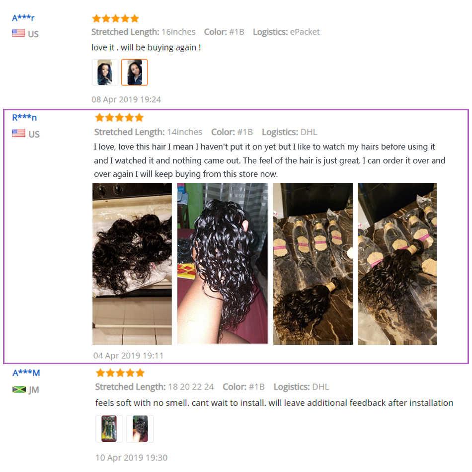 Моника волосы перуанские волосы волнистые пучки волос 100% человеческие волосы плетение пучки волос натуральный Цвет непутающиеся вьющиеся волосы для наращивания Ombre Человеческие волосы 1/3/4 шт.