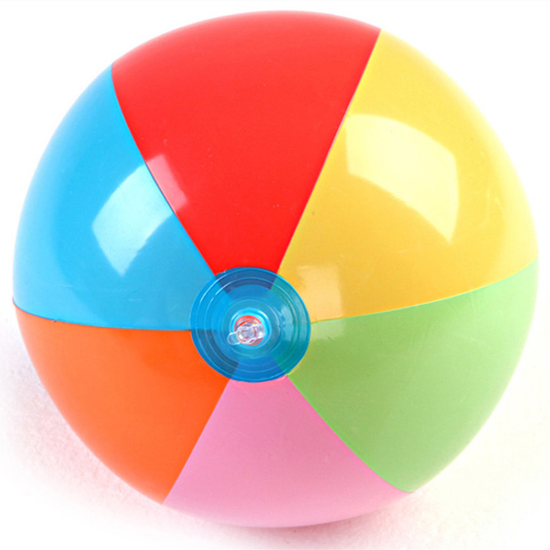Children Color PVC Inflatable Beach Racquet Ball Kids Baby Outdoor Water Swimming Water Toys Summer New To Send Rubber Band G39