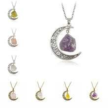 2017 New Jewelry Hot crystal Necklace Soft Gothic Garbage Witchcraft Goddess Purple Stone Necklace Wholesale