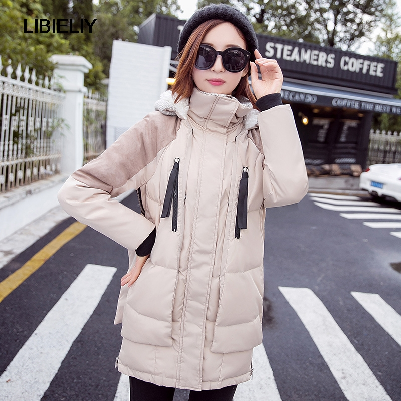 Women's Jacket Fashion New Winter Coat  Loose Plus Size Casual Jackets Female Hooded Wadded Coat Women Parkas C1118 high quality women winter parkas 2017 new fashion female medium long loose cotton padded wadded jacket coat plus size 3xl cxm206