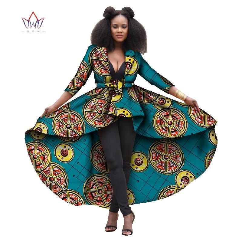 Vêtements africains grace a pris la poupée robe d'impression africaine pour les femmes trois quaeter manches dashiki pur coton classique batiks WY847