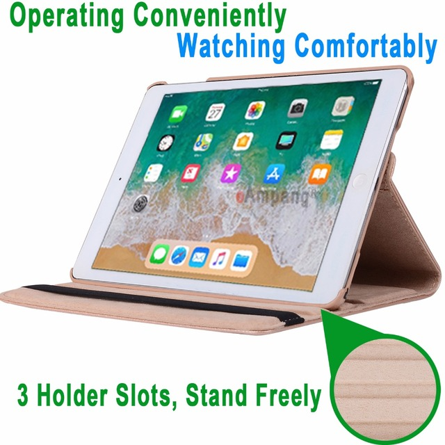 360Degree Rotating Leather Smart Cover Case for Apple iPad Air 1 Air 2 5 6 New iPad 9.7 2017 2018 5th 6th Generation Coque Funda 2